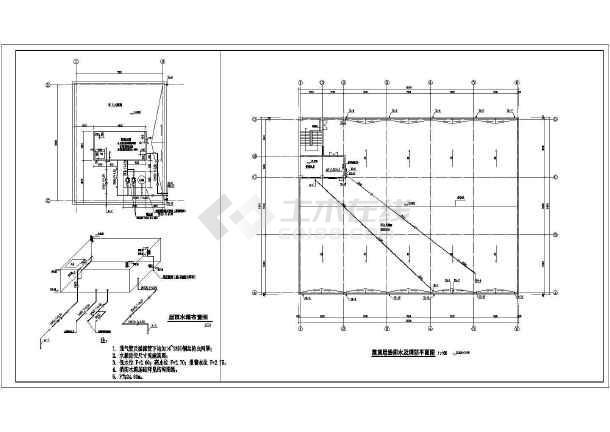 某地制衣厂厂房给排水设计施工方案图-图2