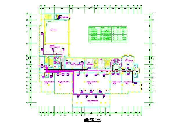 某综合办公楼沙龙365国际cad施工图-图2