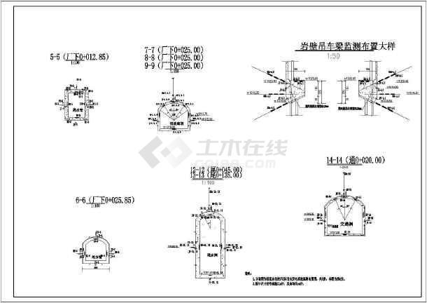 水电站地下厂房监测全套cad施工图纸-图1