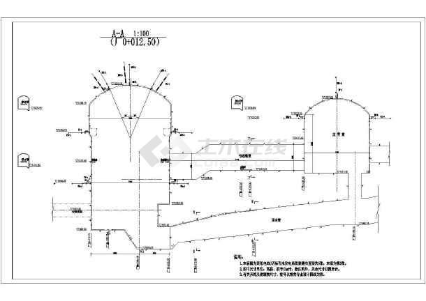 水电站地下厂房监测全套cad施工图纸-图3