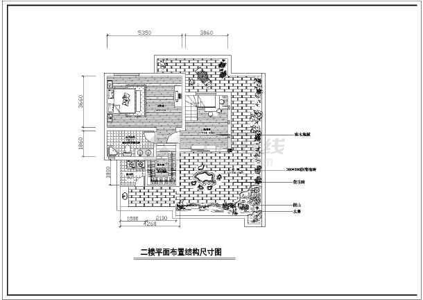 两层完整别墅室内家装cad设计平面施工大样图-图1