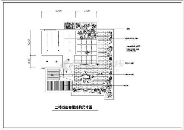 两层完整别墅室内家装cad设计平面施工大样图-图3