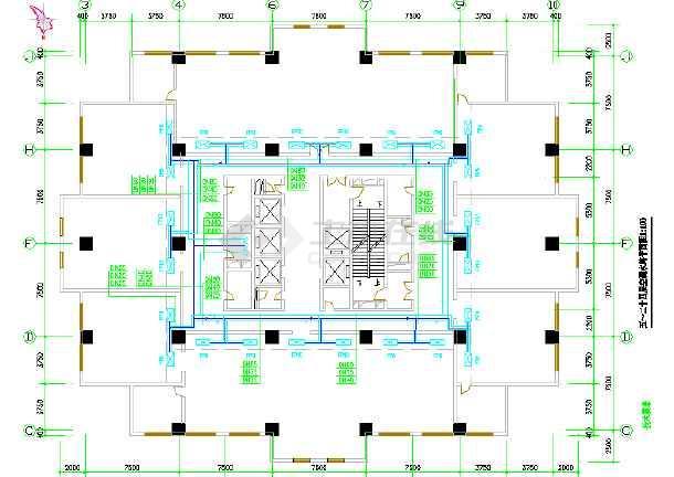 某办公大厦中央空调设计cad施工图-图1