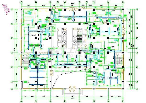 某办公大厦中央空调设计cad施工图-图2