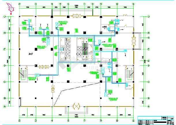 某办公大厦中央空调设计cad施工图-图3