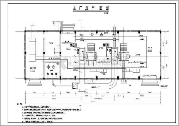 水电站设计施工厂房cad布置图纸-图2