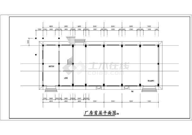 水电站设计施工厂房cad布置图纸-图3