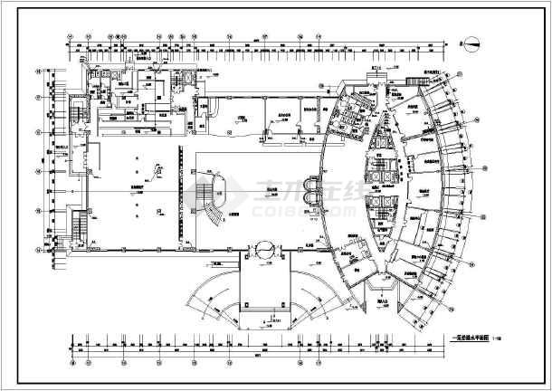 某地小高层住宅楼给排水设计施工图-图1