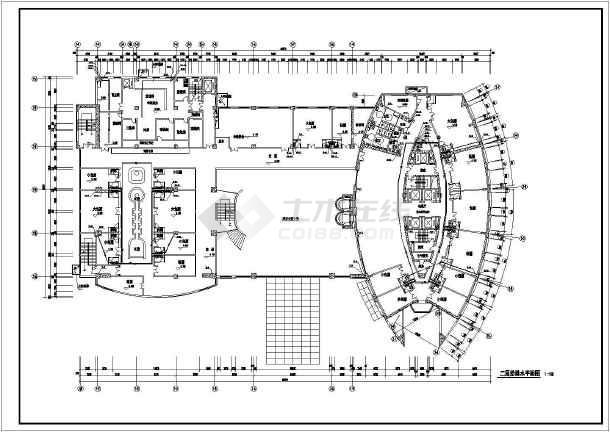 某地小高层住宅楼沙龙365设计施工图-图2