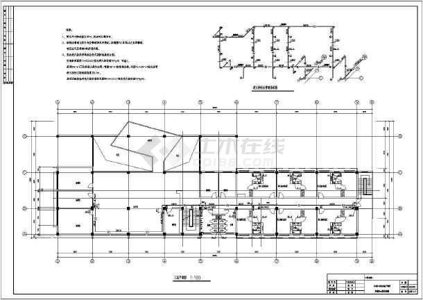三层厂房办公楼给排水及消防设计施工图-图2