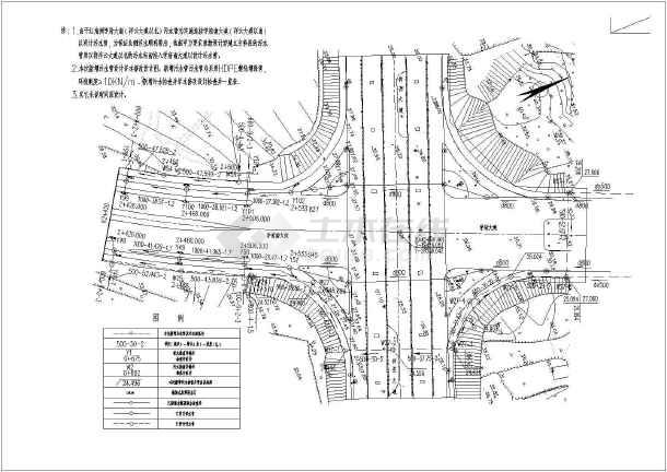 某城市规划给排水甲级型设计施工图-图1
