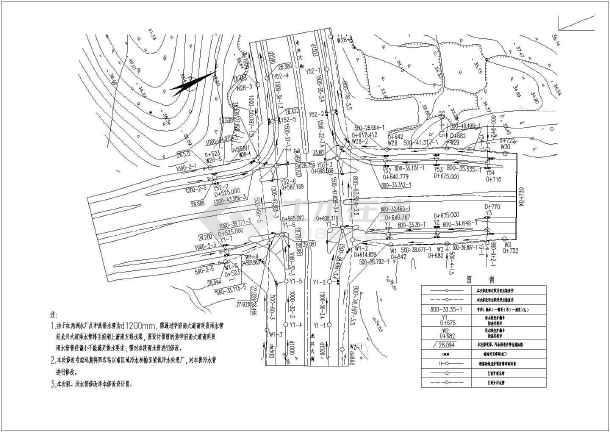 某城市规划给排水甲级型设计施工图-图3