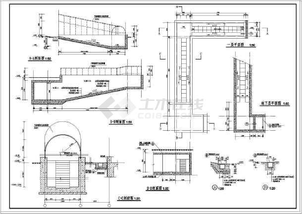 某住宅楼详细的楼梯大样和门窗cad大样施工设计图-图1
