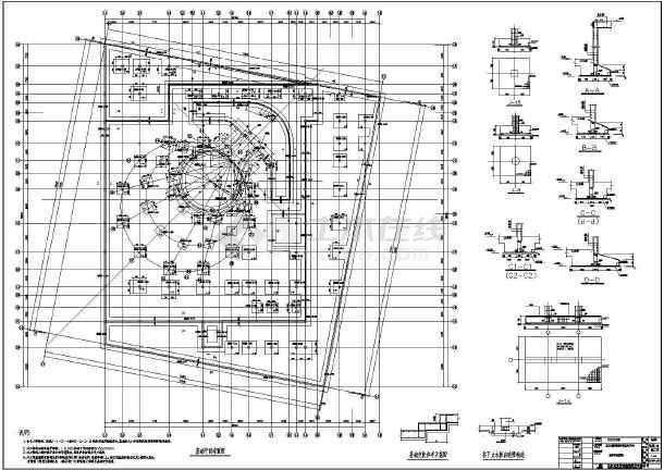 展览中心建筑基础结构设计cad施工图-图1