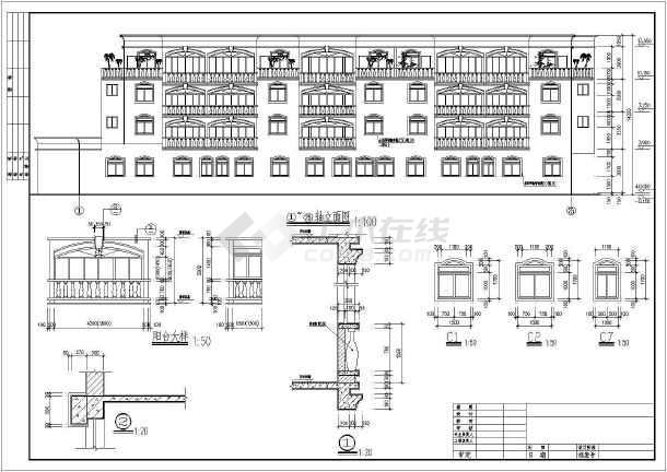 某地区某花园洋房住宅楼cad施工方案图-图1