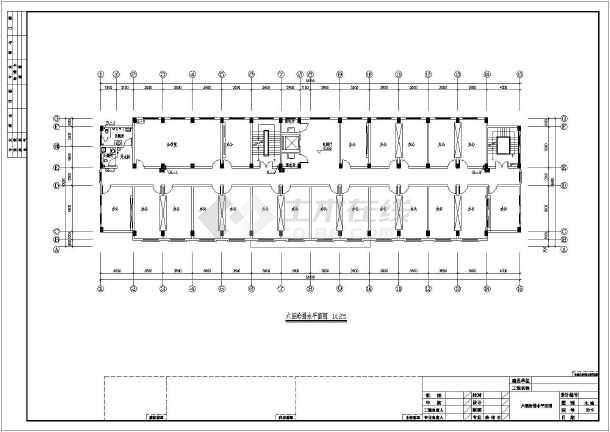 七层办公楼给排水及消防设计施工图-图2