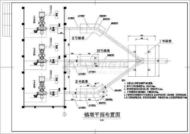 某水电站压力岔管设计cad施工图纸案例-图3