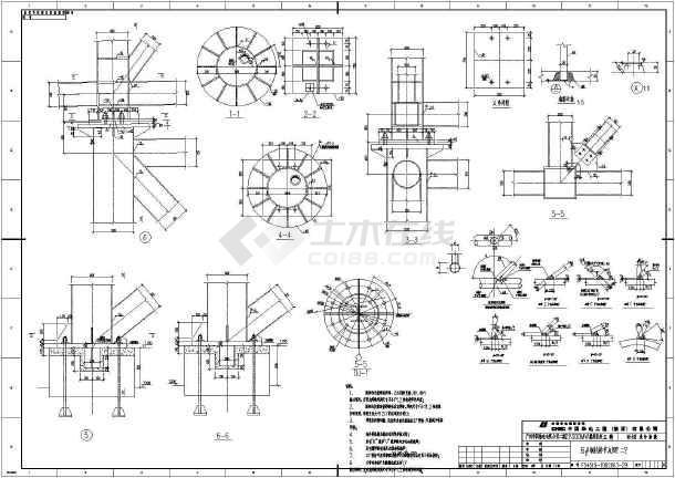 输煤栈桥整套cad设计施工图纸案例-图1
