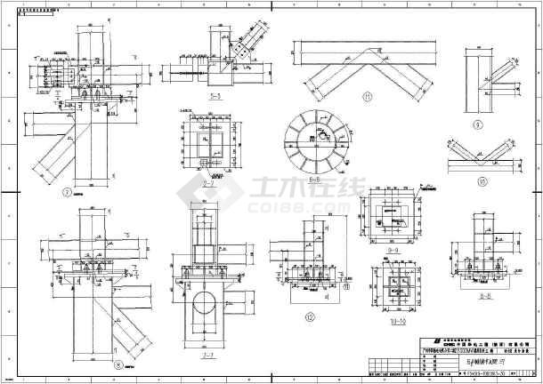 输煤栈桥整套cad设计施工图纸案例-图2