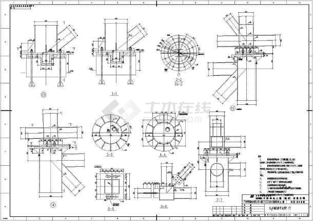 输煤栈桥整套cad设计施工图纸案例-图3