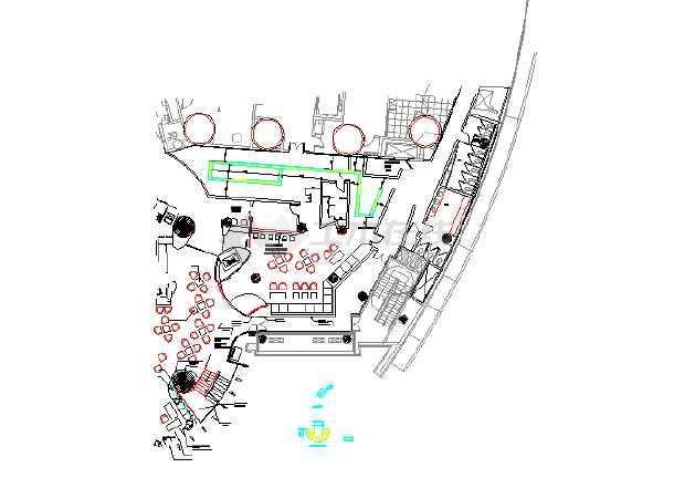 某住宅楼厨房设备暖通cad施工图-图3