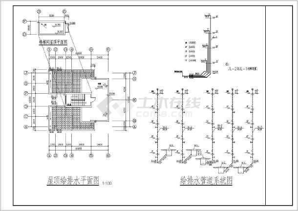 某地小学教学楼给排水设计施工方案图-图3