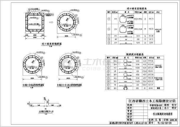 全套发电隧洞cad施工设计图纸案例-图3