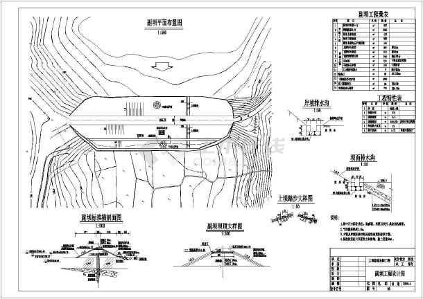 水库除险加固全套cad设计施工图纸-图3