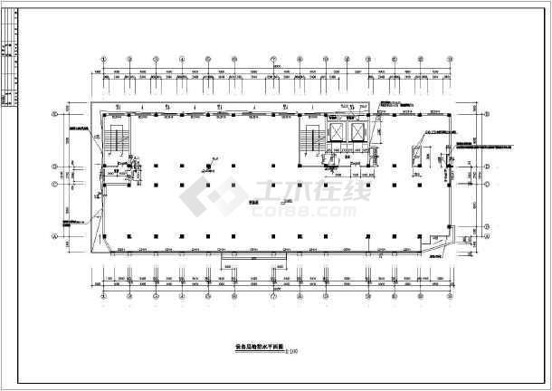 某医院全套给排水及消防自动喷淋设计施工图-图1