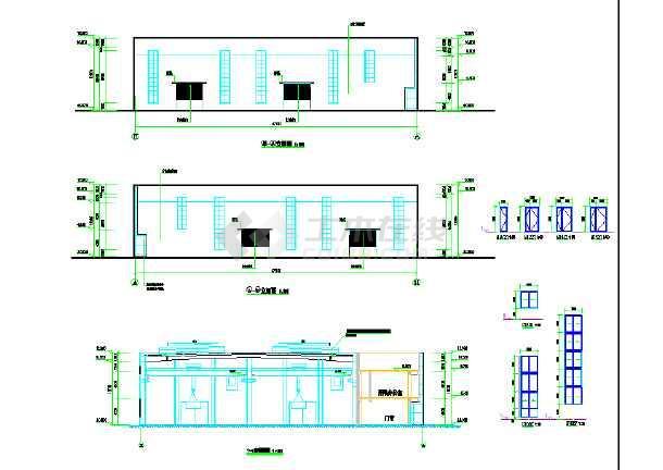 某钢结构建筑物流中心cad施工设计图纸-图1