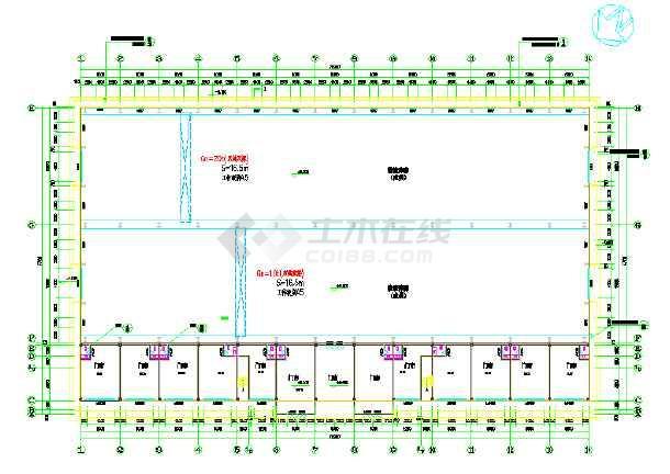 某钢结构建筑物流中心cad施工设计图纸-图3
