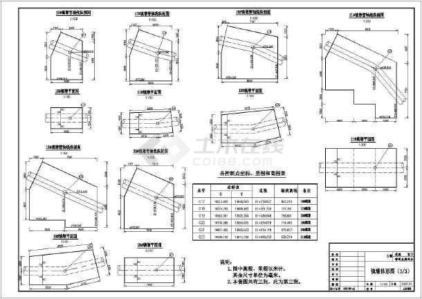 十余种镇墩cad配筋设计施工图纸-图2