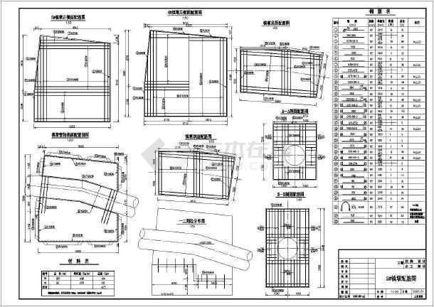 十余种镇墩cad配筋设计施工图纸-图3