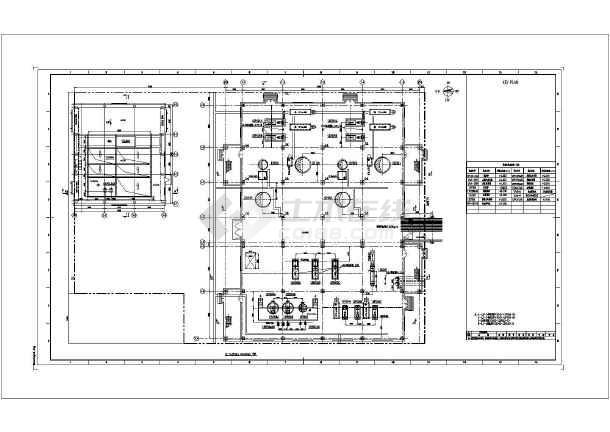 某地沙龙365渣水处理设备布置设计施工图-图2