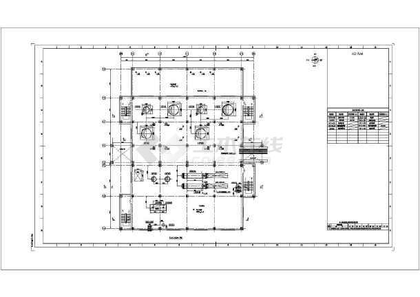 某地沙龙365渣水处理设备布置设计施工图-图3