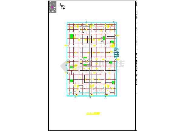 某地小型高层商住楼方案cad设计图-图3