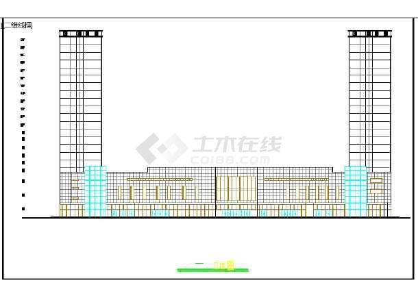 某地小型高层商住楼方案cad设计图-图1