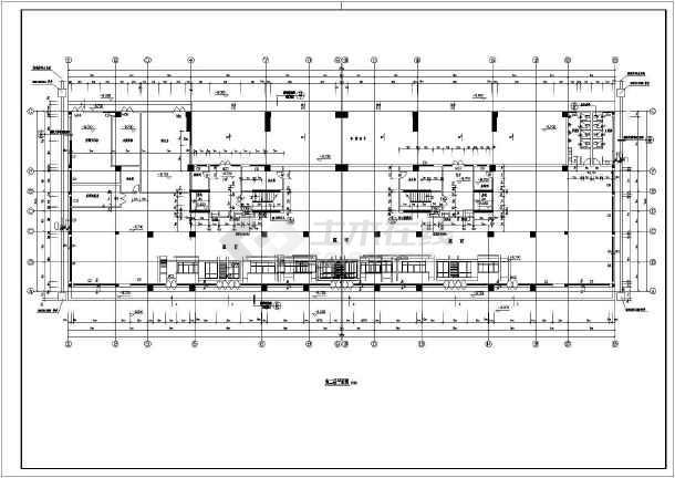 小高层14层住宅楼加底商建筑设计cad施工图纸-图2