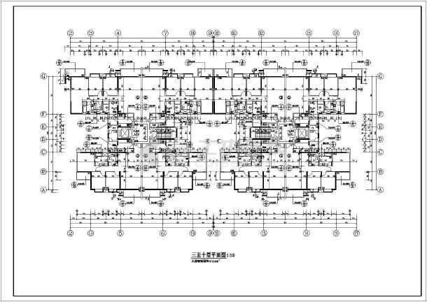 小高层14层住宅楼加底商建筑设计cad施工图纸-图3