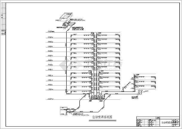 多层办公楼给排水及消防自动喷淋设计施工图-图1