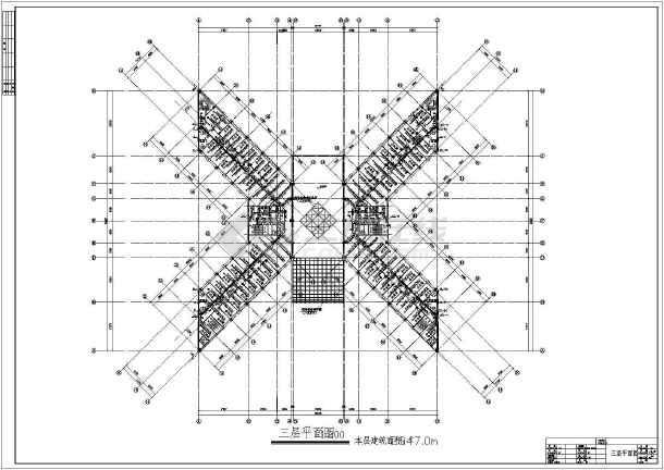 多层办公楼给排水及消防自动喷淋设计施工图-图2