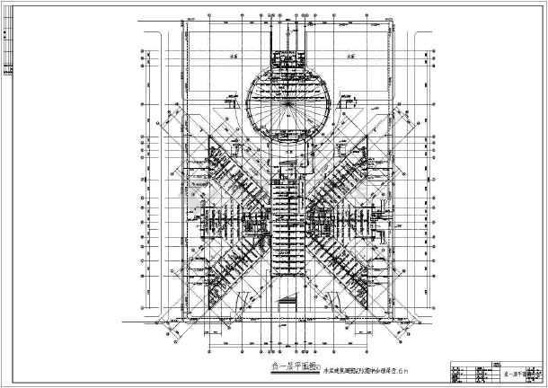 多层办公楼给排水及消防自动喷淋设计施工图-图3