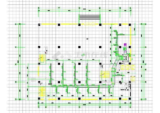 某住宅建筑全套空调工程cad施工图-图2