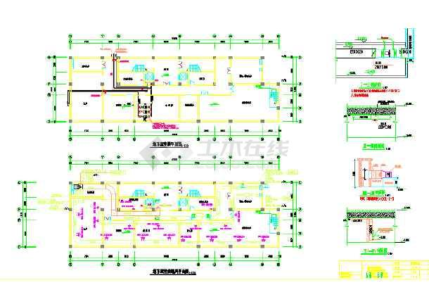 某多层办公楼空调系统设计cad施工图纸-图1
