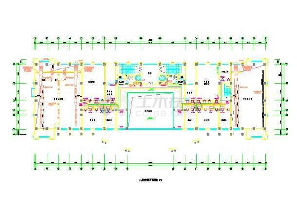某多层办公楼空调系统设计cad施工图纸-图2