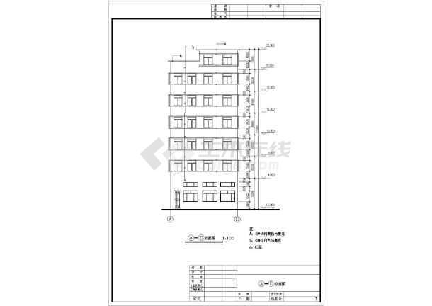本图纸为:某地区多种出租屋设计全套cad设计图纸,其中包含立面图;剖面图片