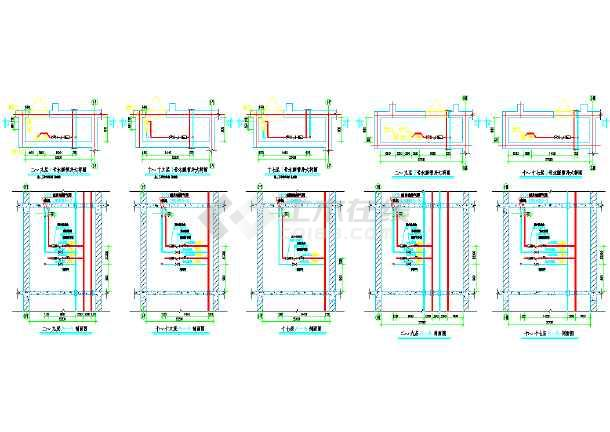某商住大楼及地下车库采暖通风系统cad施工图-图1