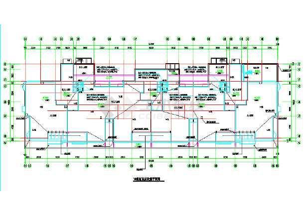 某商住大楼及地下车库采暖通风系统cad施工图-图2