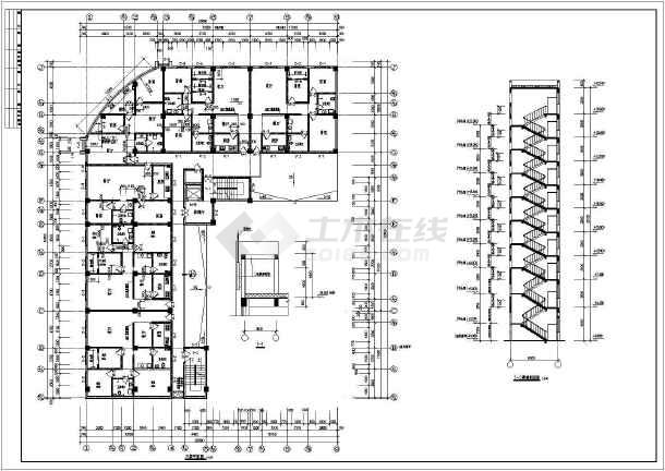 荣苑高层住宅建筑设计cad施工图-图1