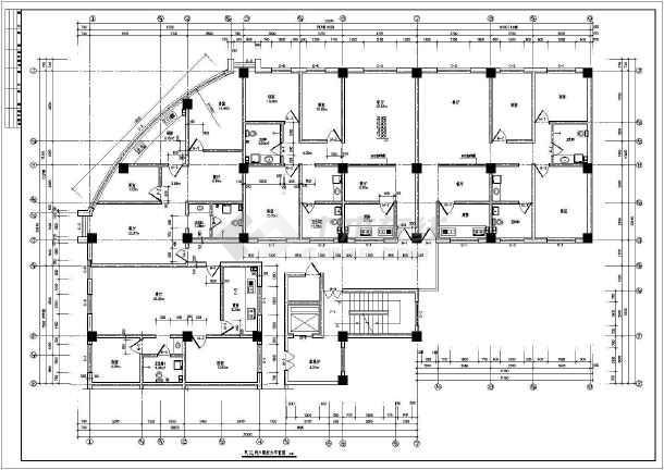 荣苑高层住宅建筑设计cad施工图-图2